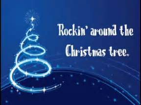 download rockin around the christmas tree lyrics videos