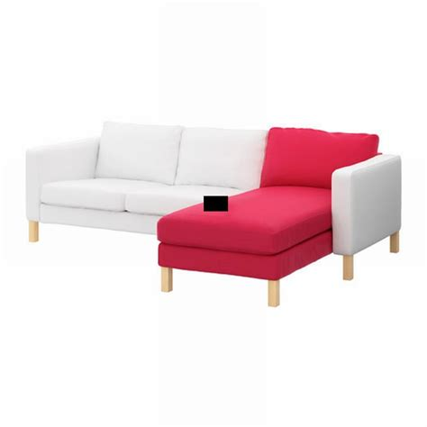 Slipcover For With Chaise by Karlstad Add On Chaise Slipcover Cover Sivik Pink
