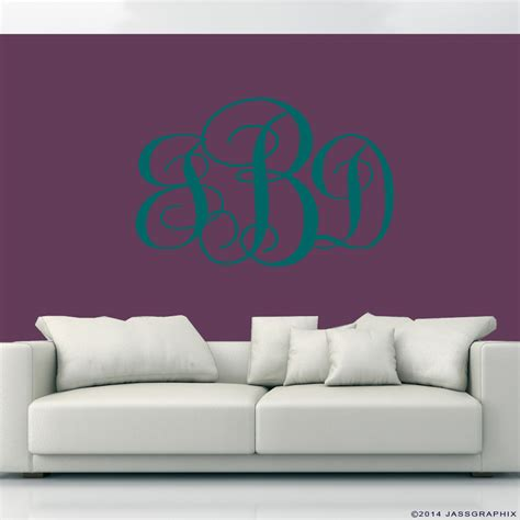 teal wall stickers monogram wall decals teal www jassgraphix