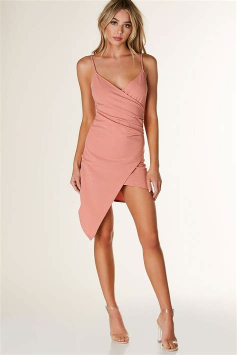 Assymetrical Dress by Flattering Sleeveless Asymmetrical Dress With Wrap Design