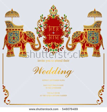 free indian marriage invitation card design 2 elephant wedding stock images royalty free images vectors