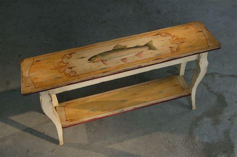 custom made sofa tables handmade custom painted rustic sofa table by