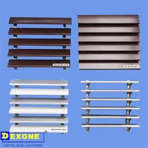 Sell exterior metal wall louver curtain wall louver foshan dexone