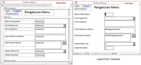 jenis layout pada report wizard mengenal jenis dan kegunaan layout pada form di access