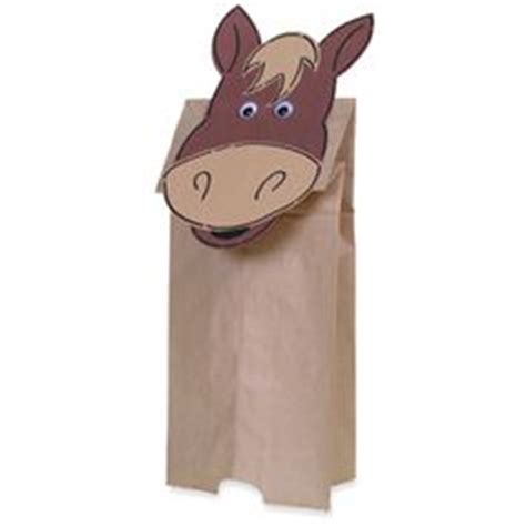paper bag donkey pattern 1000 images about home made horses on pinterest stick