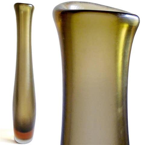 Venini Glass Vase by Paolo Venini Murano Inciso Textured Sculptural Italian