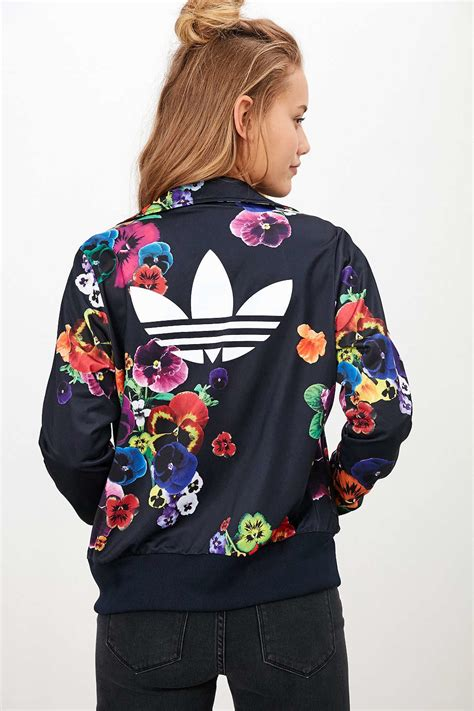 adidas originals firebird crepe tracksuit jacket lyst