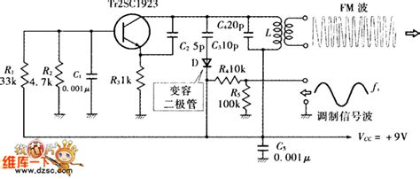 varactor diode modulator circuit direct fm modulation circuit diagram composed of varactor diode low frequency signal