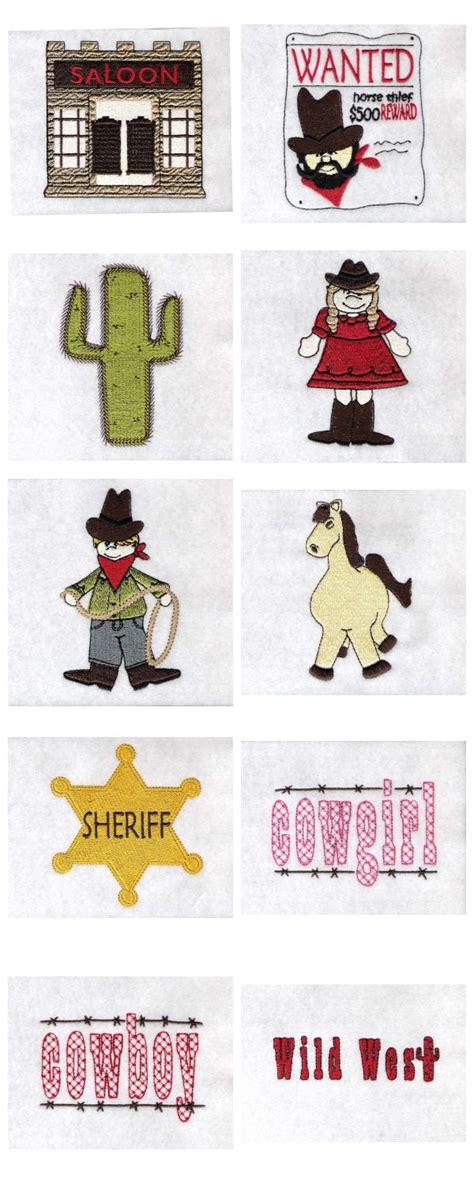 design west embroidery embroidery machine designs wild west set