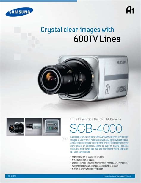 Cctv Samsung Scb 4000 samsung techwin scb 4000 data sheet