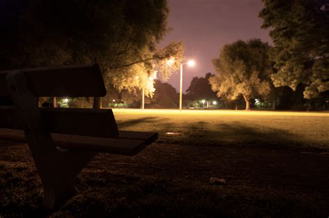 bench at night bench in the night by kevinconsen on deviantart
