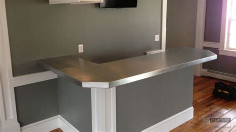 zinc bar tops zinc bar top l shaped with 45 degree corner