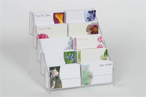 how to display cards acrylic gift card display stand counter display