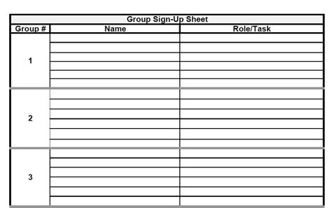 project sign template free the admin project sign up sheet