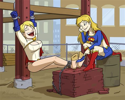 forum tickling discussion powergirl and supergirl by chaoskomori on deviantart