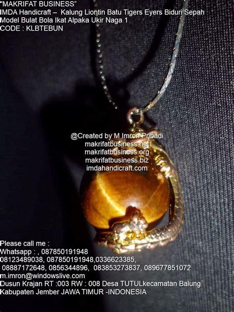 kerajinan kalung kalung rantai titanium liontin batu tiger eyers biduri sepah bulat 20 mm ikat