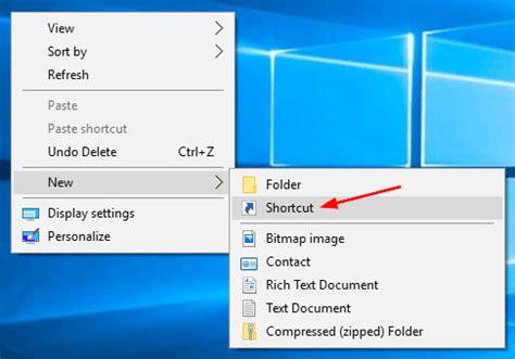 windows reset password shortcut how to create shortcut to shutdown restart windows 10
