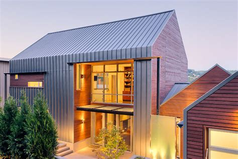 gutterless roofs home design forum lake house contemporary exterior seattle by