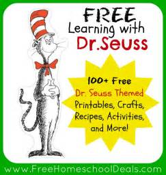 Learning with dr seuss 100 free dr seuss themed printables crafts