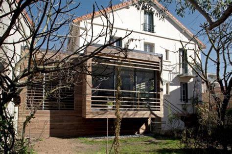 Bien Bardage Bois Maison Ancienne #4: Extension-bois-toit-plat-maison-ancienne.jpg