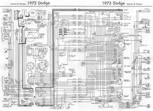 1973 Dodge Charger Wiring Harness Dodge Coronet And Charger 1973 Complete Wiring Diagram