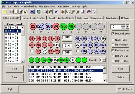 lottery pattern finder freware shareware lottery downloads
