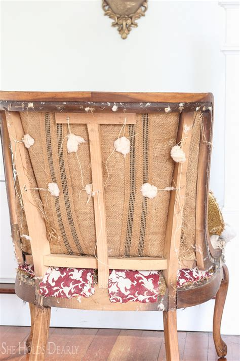 How To Reupholster A Vintage by Reupholstering An Antique Chair She Holds Dearly