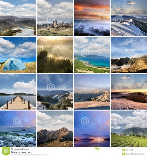 Landscape Collection Landscape Collection Of Taiwan Stock Photo Image 46119168