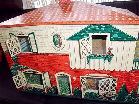 tin doll house vintage tin doll house