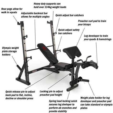 parts of a weight bench marcy diamond elite olympic bench with squat rack