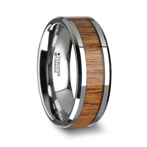 Wedding Bands Hq by Burma Teak Wood Inlay Tungsten Wedding Band Wedding Bands Hq