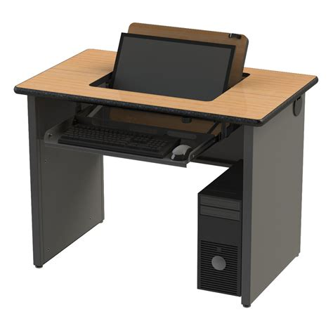 flip top computer desk sri series flip desk workspacesandstorage com