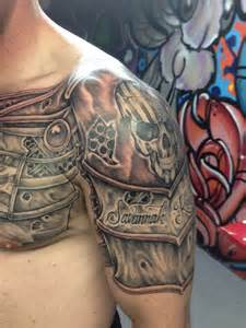 armor tattoo by michael medina michael medina art