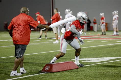 columbus dispatch sports section ohio state football coaches go to bat against fumbles