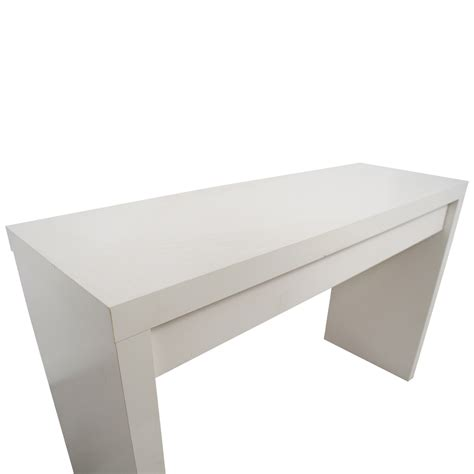 54 Off Ikea Ikea Malm White Single Drawer Narrow Desk Ikea White Desk Table