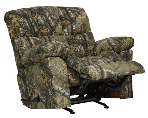 realtree recliner catnapper duck dynasty chimney rock lay flat recliner