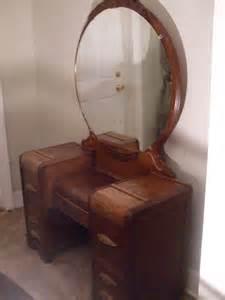 deco waterfall vanity dresser w bakelite by rustyromance