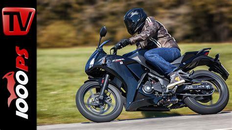 Motorrad Mieten A2 by Video 2015 Honda Cbr300r Test A2 48ps Einsteiger