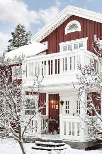 Swedish Farmhouse Plans Traditional Swedish House With Red Walls And White Windows
