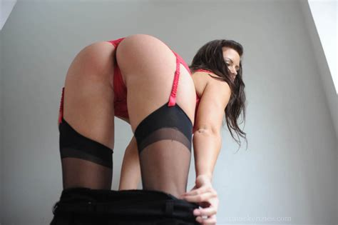 only stockings and garter belt bent over bent over garter belt stockings no panties hot girls