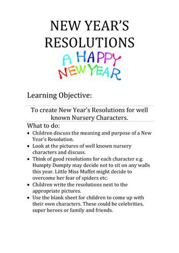 the new year ks1 123 best new year s resolutions images on