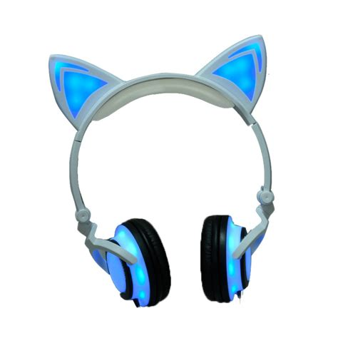 Casing Iphone 6 Custom Cat With Headphone 2017 cat ear headphones led ear headphone cats earphone