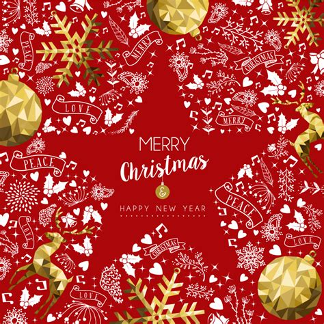 merry christmas love red vector  vector graphic