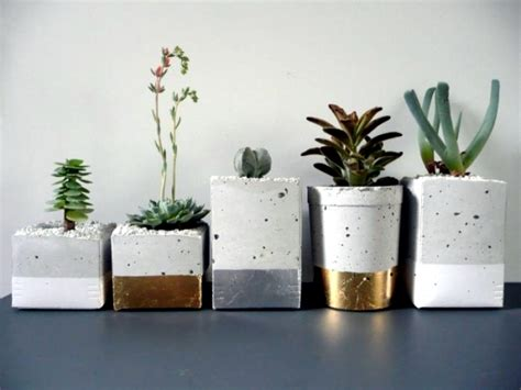 Decorating Flower Pot Modern Magazin Concrete Planters Highlights And Functional Design