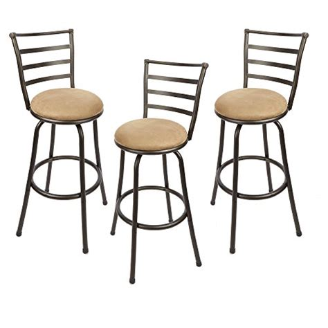 mainstays adjustable metal swivel bar stools adjustable height swivel barstool hammered bronze finish