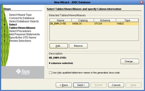 oracle change table name select tables views aliases developing otds for database