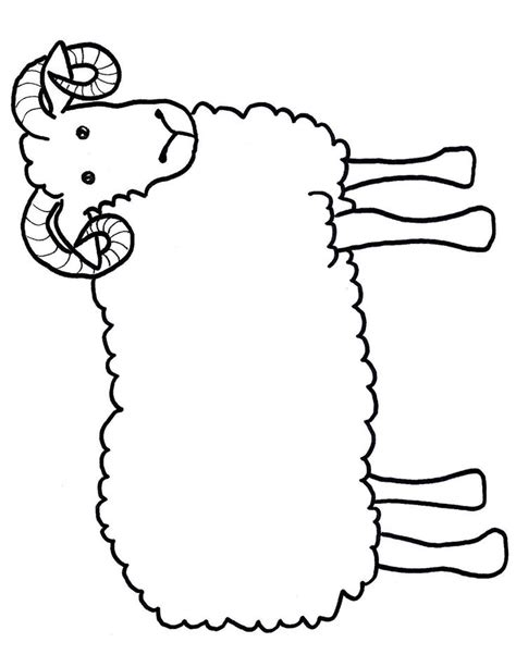 ram craft template kids craft free printable lamb sheep