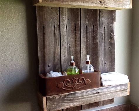 remodelaholic build  easy rustic bathroom shelf
