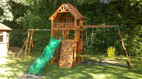 highlander swing set selwood products highlander climbing children s garden