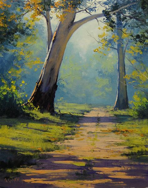 Landscape Paintings How To Forest Gum Trees By Artsaus On Deviantart